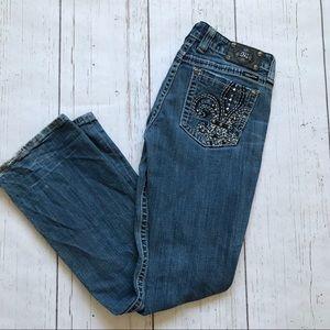Miss Me Fleur Di Lis Boot Cut Jeans